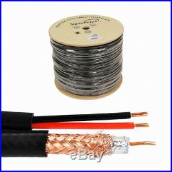 1000ft Siamese Cable Rg59 Video 20awg 18/2 Power Security Camera Wire Cctv Bulk