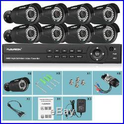 1080N CCTV Security Camera System HDMI 8CH AHD DVR 8x 3000TVL 20M IR Outdoor Kit