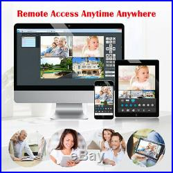 1080P 4CH WiFi Security Camera System Wireless Outdoor IP CCTV Video NVR Kit US