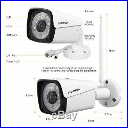 1080P 8CH WiFi Security Camera System Wireless Outdoor IP CCTV Video NVR Kit US