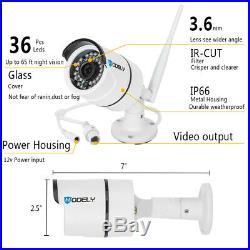 1080P HD 8CH Wireless CCTV NVR IR-CUT WiFi Camera Security System Motion Alarm