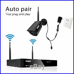 1080P Wireless WiFi Security Camera System 4CH HD 2MP NVR Outdoor 1TB CCTV Kit