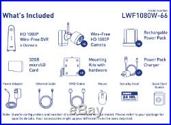 1080p Wireless camera system with 6 battery operated wire-free cameras, nv, 2way
