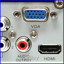16 Channel DVR (12) 5MP HD 1920p CCTV Weatherproof Bullet Security Camera System