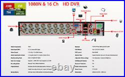 16 Channel H. 264 Security DVR with 1TB HDD Recorder for Security Camera System