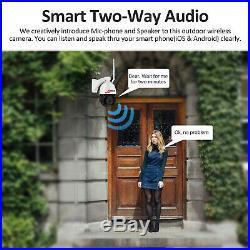 1940P Wireless Secuirty Camera WIFI 5MP PTZ Outdoor Monitor CCTV 2-way Audio 20X