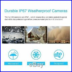 1TB 1080P 4CH HD Security Camera System Wired Outdoor CCTV Home WiFi NVR Kits