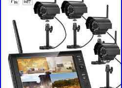 2.4GHZ Wireless 7 TFT LCD CCTV DVR Security System Monitor /w 4 IR-Cut Cameras