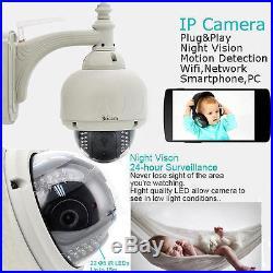 2 Sricam Wireless Outdoor Pan Tilt Network CCTV Camera P2P Wifi IP Webcam IR Cam