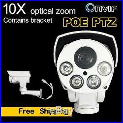 2MP 10X Optical Zoom PTZ IP Security Camera POE H. 265 IR Outdoor IP66 1080P TF