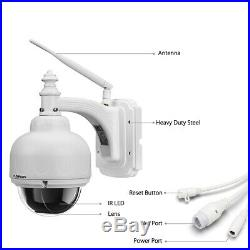 2x1080P WiFi Wireless CCTV Outdoor Smart Security Audio With Mic Dome PT IP Camera