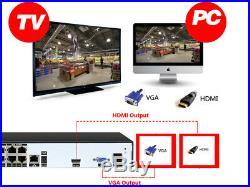 4/8CH X 5 MP PoE IP Camera H. 265 NVR Security Camera CCTV Surveillance System AU