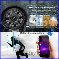 4CH 1080P AHD CCTV DVR 1500TVL 20M IR Night Outdoor Home Security Camera System