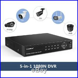4CH 1080P CCTV DVR NVR Home Outdoor Security IP Camera System Night Vision Kit