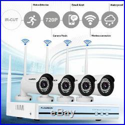 4CH 1080P WIFI DVR NVR IR CUT CCTV Surveillance Outdoor Security Camera System