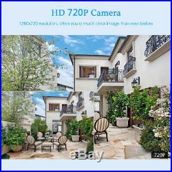 4CH 1080P WIFI NVR 12 LCD Monitor+720P Wireless IR CCTV Security IP Camera KIT