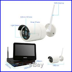 4CH 1080P Wireless Security System WIFI Monitor NVR Outdoor CCTV IP Camera Lot