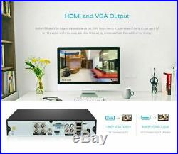 4CH 5in1 NVR 4 Outdoor IR-CUT 720P CCTV Camera Home Security System Moblie View