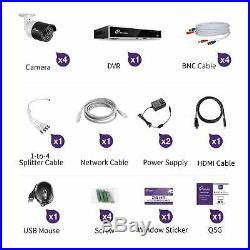 4CH 8CH 1080p HD Video 1080P DVR Home IR Security Camera System CCTV 1/2TB