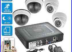 4CH DVR CCTV Home Security Camera System Surveillance outdoor 720P Night Vision