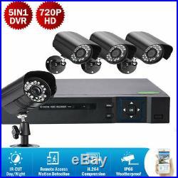 4CH HDMI CCTV 5in1 Outdoor Waterproof DVR IR-CUT Bullet Camera Security System