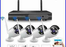4CH Wireless 1080P NVR Outdoor IR 720P IP WIFI Camera CCTV Security System-Video