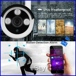 4CH Wireless 1080P NVR Outdoor IR 720P WIFI IP Camera Security System CCTV Video