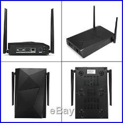 4CH Wireless 1080P NVR Outdoor IR WIFI IP Camera CCTV Security Alarm System APP