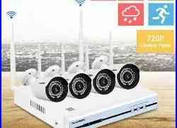 4CH Wireless CCTV 1080P DVR Set Wifi 720P IP Camera Security Video Recorder NVR