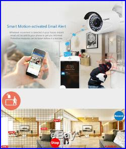 4CH Wireless IP Camera CCTV Home Security Video System 1080P IR Night Outdoor US