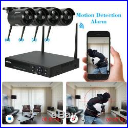 4CH Wireless WIFI 1080P NVR 4X720P Outdoor CCTV IP Camera Security System Kits