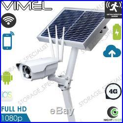 4G Farm Security Camera Alarm System Home 3G CCTV Surveillance Phone Remote