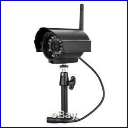 7 LCD 2.4G Quad DVR Wireless Home Security System Night Vision CCTV 4 Camera