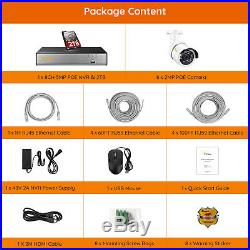 8 Channel H. 265+ 1080P POE Security IP Camera System 8CH 5MP H. 265+ NVR 2TB HDD