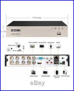 8 Security Camaras HD 1080N Video De Seguridad Para Casas Home 8Ch Vigilancia US