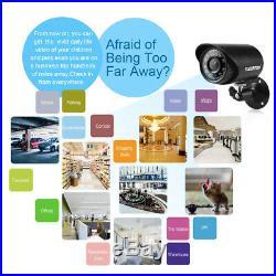 8CH 1080N AHD DVR 1500TVL IR-CUT Video Recorder 4 Cam CCTV Security Camera Kit