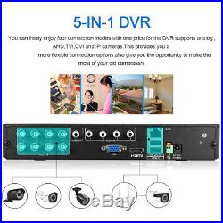 8CH 1080N AHD DVR 4X 3000TVL 1080P 2.0MP Camera Security CCTV System Kit 1TB HDD