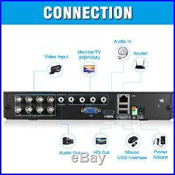 8CH 1080N AHD DVR 4X Outdoor 3000TVL 1080P 2MP CCTV Security Camera Kit 1TB HDD