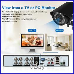 8CH 1080N AHD DVR 4x Outdoor 1500TVL Video Recorder CCTV Camera Security System