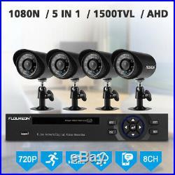 8CH 1080N AHD DVR Outdoor 1500TVL Camera CCTV Security System Kit Night Vision