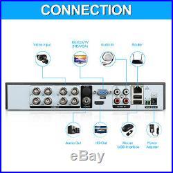 8CH 1080N HDMI CCTV AHD DVR+1500TVL Home Security Camera System Night Recorder