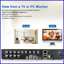 8CH 1080P 1080N CCTV AHD DVR + 8X Outdoor 3000TVL 1080P 2MP Home Security Camera