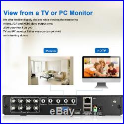 8CH 1080P CCTV AHD DVR Security Camera Surveillance System IR 1TB Night Vision