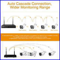 8CH 1080P HD Wireless Outdoor Home Security Camera System CCTV HDMI NVR IR Night
