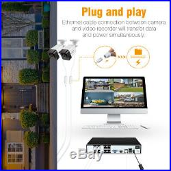 8CH 1080P HD X POE NVR Smart Security Camera System Home CCTV Video Recorder IR