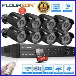 8CH 1080P Security IP Camera DVR Kit System IR 3000TVL Home CCTV Outdoor/Indoor