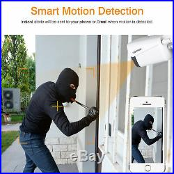 8CH 1080P Wireless CCTV Security Camera System Motion Detection Night Vision New