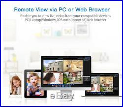 8CH AHD DVR 1080P IR Outdoor Night CCTV Home Surveillance Security Camera System