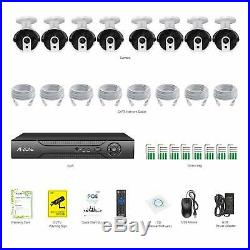 A-ZONE 1080P 8CH NVR POE IP Security Camera System CCTV Network Home Outdoor #US