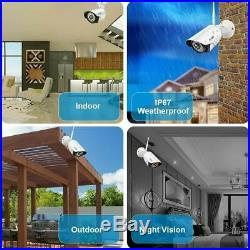A-ZONE Wireless WIFI 1080P NVR Security Camera Outdoor CCTV IP Camera System US
